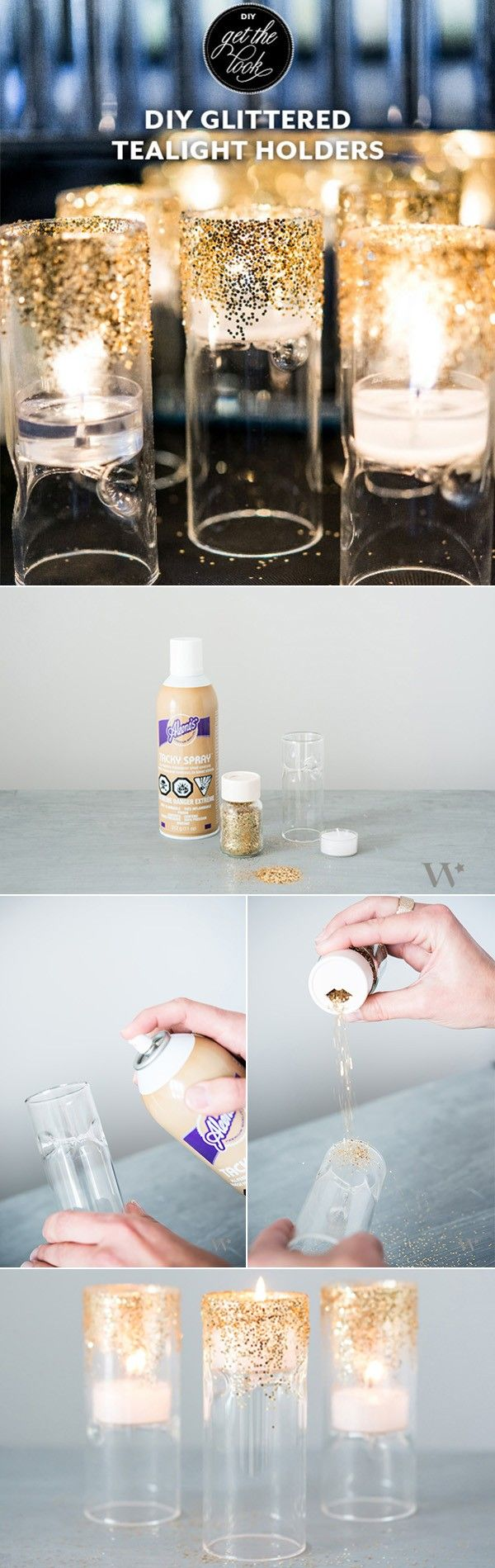 diy glitter wedding centerpieces candle holders #diywedding #diyweddingideas #weddingdecor