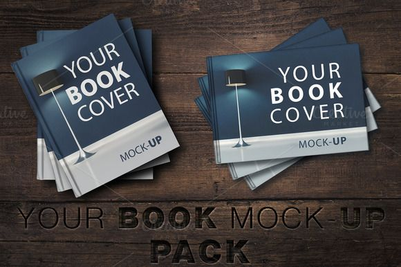 SALE-Book Cover Mock-UP Pack by attraax on @creativemarket