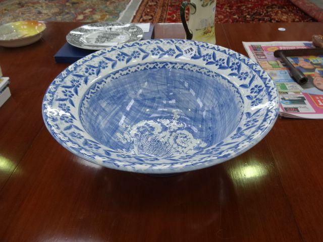 ITALIAN BLUE & WHITE BOWL   [0338] [$55.00]