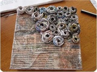 Newspaper art....I like it 1/3 done like this!