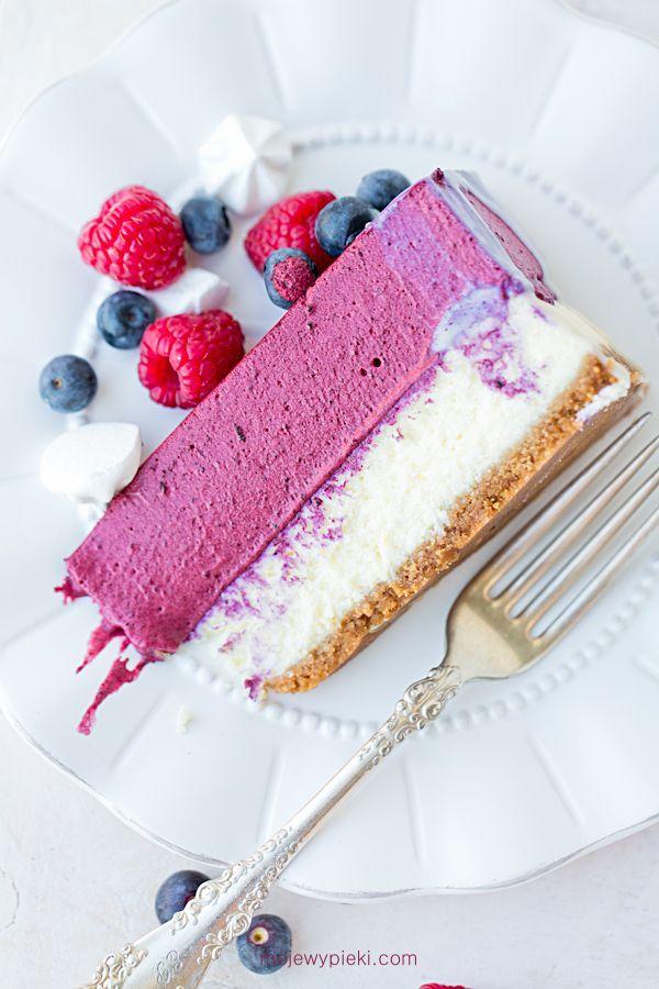 Sernik Z Musem Jagodowym Dessert Recipes Desserts Cheesecake