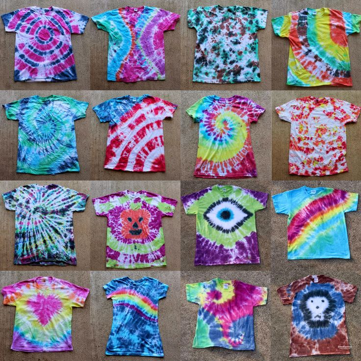 Tulip Tie Dye T-shirt Party!  16 Awesome patterns and tips for hosting a tie dye party!