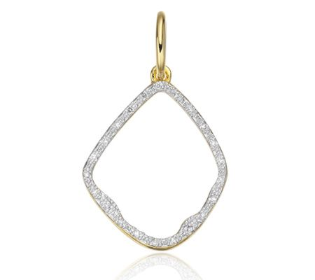 Riva Diamond Hoop Pendant in 18ct Gold Vermeil on Sterling Silver with Diamond | Jewellery by Monica Vinader