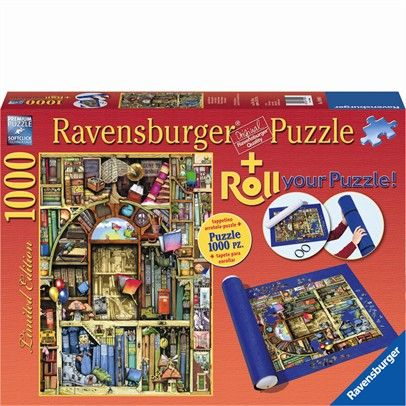 Ravensburger Rburg - Bizarre Library 1000-Roll Your Puzzle $43.00