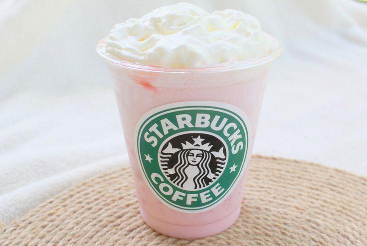 Starbucks strawberry & Creme Frappuccino juomaohje