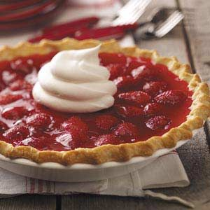 Strawberry Custard Pies Recipe -These pies were a spring special at a restaurant where I used to work. Whoever was the cook that day had to bake them first thing in the morning and again in the afternoon, as soon as strawberries were ready. —Caroline Park, Pritchard, British Columbia