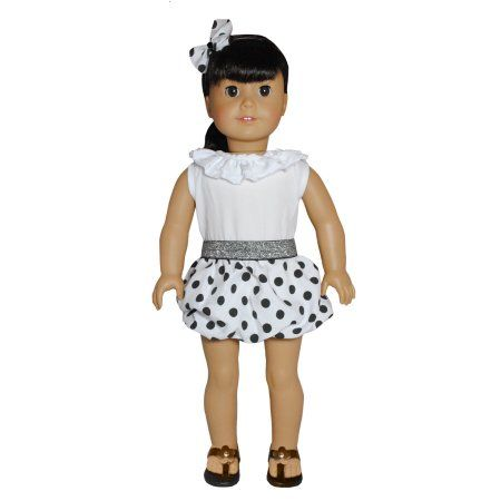 Free Shipping. Buy Polka Dots Black & White Dress Outfit Doll Clothes Accessories Fits American Girl My Generation & Other 18 Inches Dolls at Walmart.com