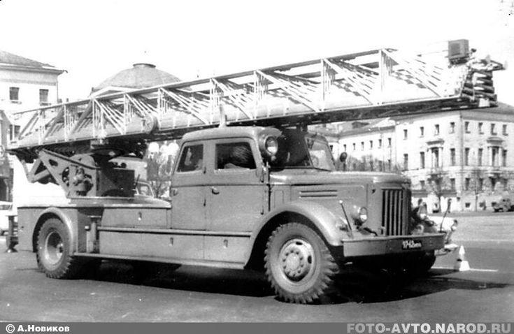 45-метровая пожарная лестница АЛМ-45 модели «ЛД» / Русская Сила