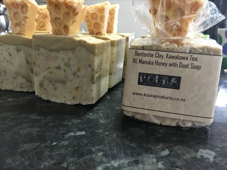 """Delish Bentonite Clay with Kawakawa Tea, NZ Manuka Honey & Himalayan Salt with Goat Soap.  I call it """"La'Kahns Little Honey"""" named after my little Neff who I LOVE to bits.  He calls his baby sisters """"my little honies"""" which I think is adorable 😊 inspired by you my darling ❤"""