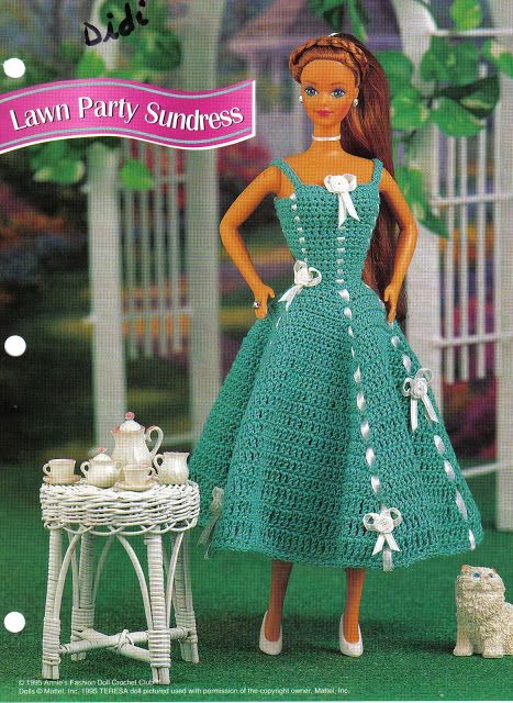 Barbie Crochê Miniaturas e Coisas Mais - De Tudo Um Pouco e Muito Mais: Vestidos de Crochê Para Barbie - Traduções de Maio...