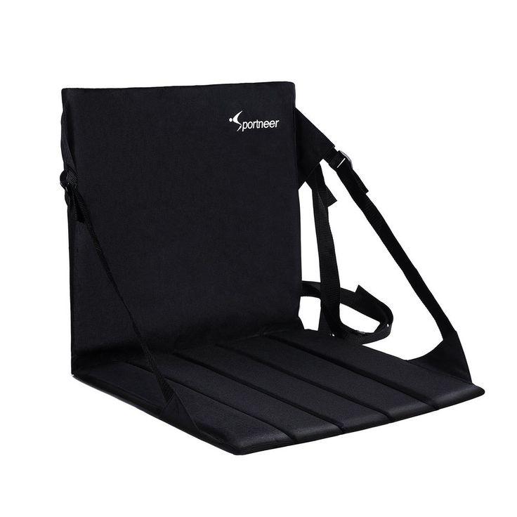Portable Stadium Seat Padded Chair Folding Bleacher Bench Football Sport Cushion #Sport