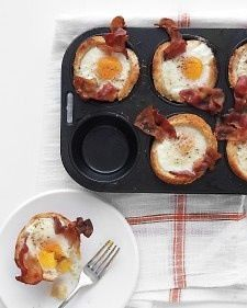 Bacon Egg and Toast Cups
