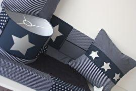 Set babykamer: donkerblauw - zilveren ster