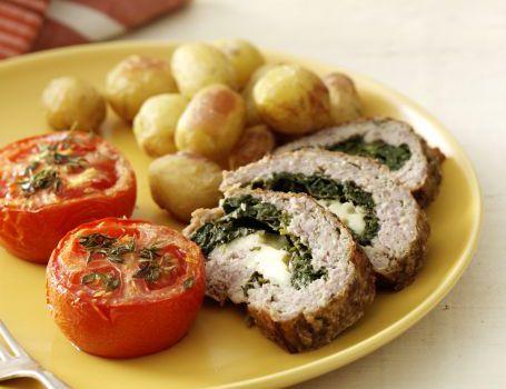 Farsbrød med spinat og feta