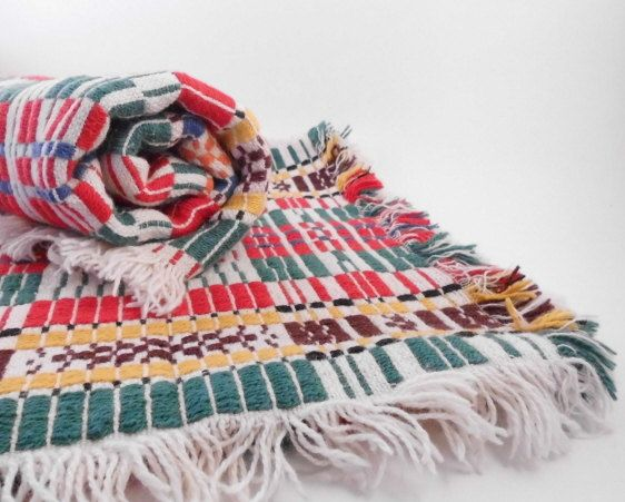 1970s Southwestern Tablecloth and Napkin Set by AnnaLeesAttic.etsy.com #southwest #VintageAndMain