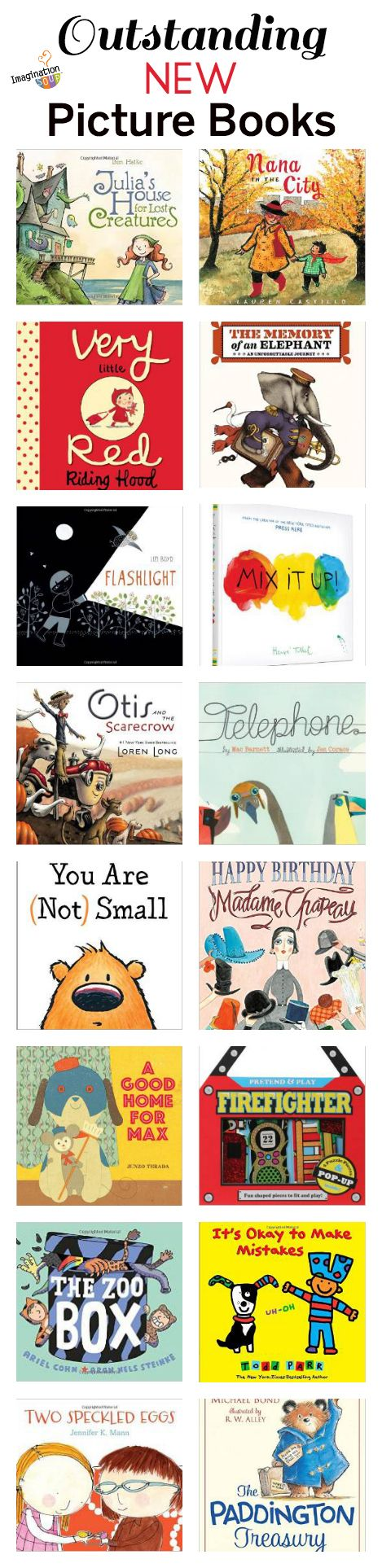 Outstanding new picture books, summer 2014, via Imagination Soup