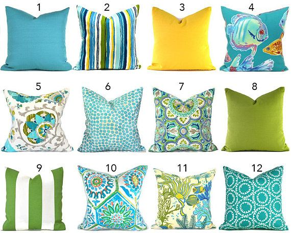 Indoor Outdoor Turquoise Outdoor Pillows Any Size Outdoor Pillow Covers Decorative Pillows Blue Outdoor Cu Outdoor Pillow Covers Pillows Designer Throw Pillows
