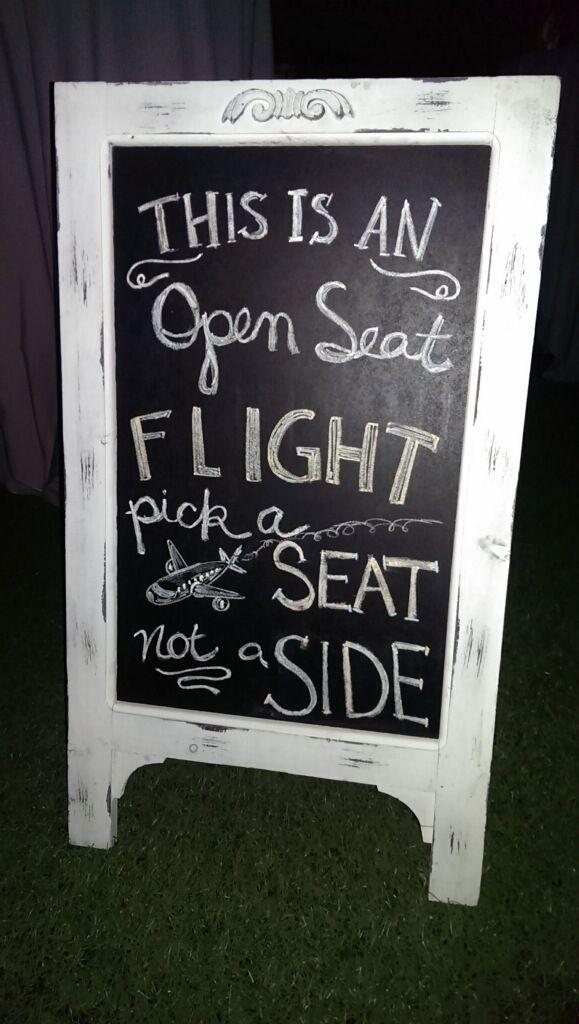 Travel themed wedding chalkboard seating chart airplane destination wedding