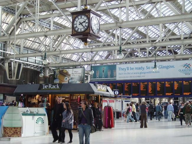 Central Train Station - Glasgow City Centre. I remember waving my father off on his last leave before D Day. I was very tiny but can still see the mass of people in uniforms. My Dad came home again. Many didn't