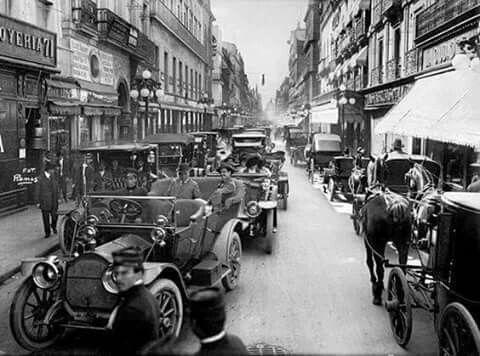 Calle Madero en 1917