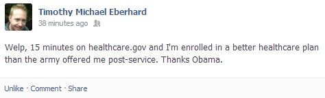 My brother suffered through healthcare.gov…for 15 minutes.