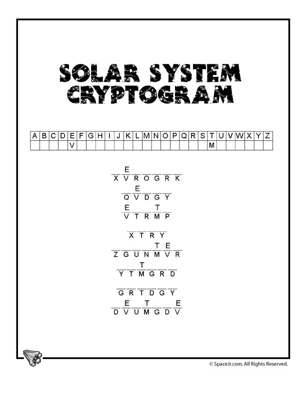 solar system crossword worksheet - photo #35