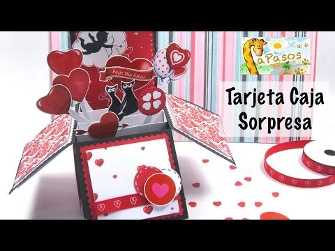 Tarjeta Caja Sorpresa - Manualidades Paso a Paso San Valentín - YouTube