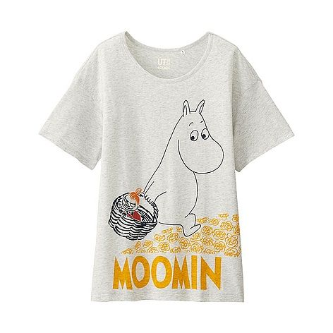 WOMEN Moomin Short Sleeve Graphic T-Shirt