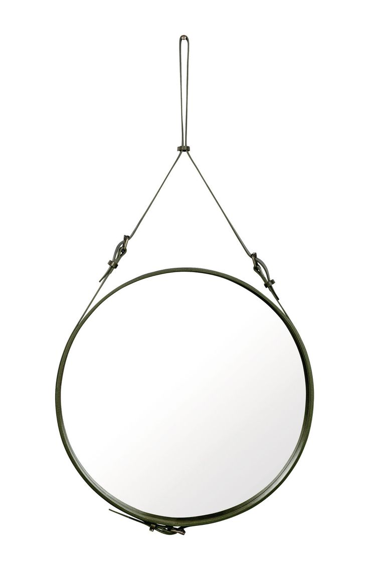 GUBI // Andnet Circulaire mirror in Olive Green S, M & L