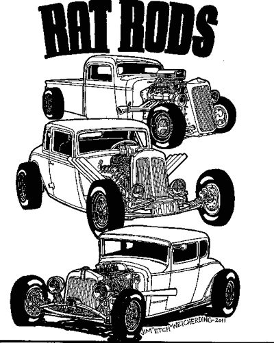 rat rod coloring pages cartoon
