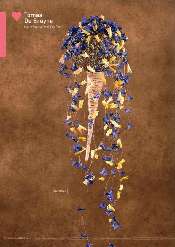 Tomas De Bruynes flowers arrangement for Nacre magazine N°44  www.editionsnacre.com