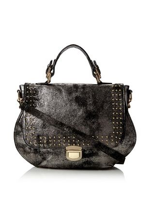80% OFF HAYVEN Women's Carla Top Handle Satchel, Charcoal/Denim
