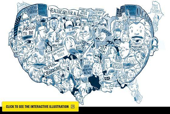 cool illustration of Obama/America