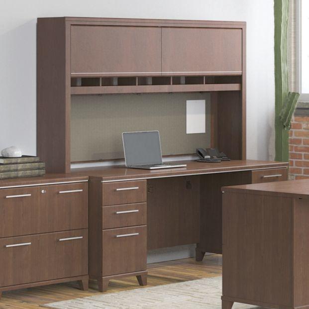 Enterprise Double Pedestal Office Desk with Hutch