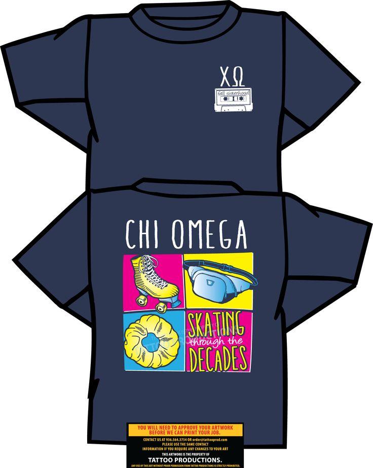 Sfasu Chi Omega Social Tattoo T Shirts Shirt Designs