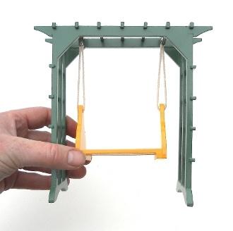 Miniature swing set miniatures pinterest for Mini swing set