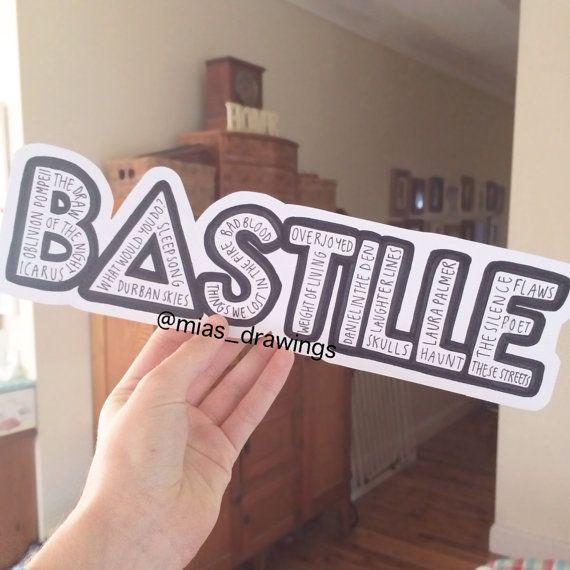 bastille band stickers