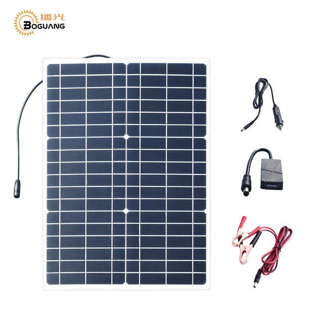 Boguang 30w 18v Flexible Solar Panel 5v Usb 30 Watt Small Light Solpanel Battery Outdoor Connector Dc 12v C Flexible Solar Panels Solar Panels Solar Technology