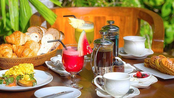 Enjoy an exquisite breakfast in the sanctuary of your private villa.  www.villakubu.com/oasis-restaurant-bar #villakubu #theoasisrestaurant #bar #breakfast #culinary #cuisine #paradise #sanctuary #wanderlust #balifoodbible