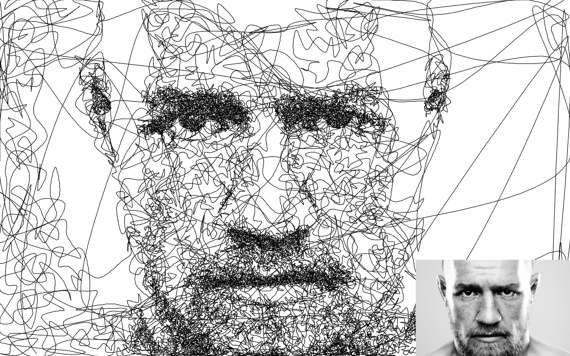 Doodle style single line drawing  custom portrait  by LinesLab