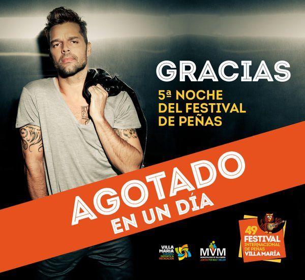"""REYNAZUL TU RADIO AMIGA... Y VIVA POR SIEMPRE...: """"Ricky Martin"""" en Villa María: entradas agotadas L..."""
