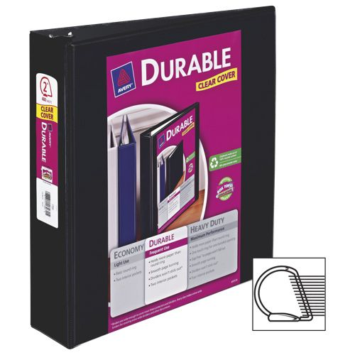 "Avery 2"" Durable Reference EZ-Turn Ring Binder - too much paper to have lying around!  #SetMeUpBBY"