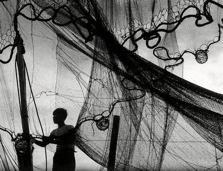 Fosco Maraini Fisherman With Nets On The Sea Of Japan c1953 via