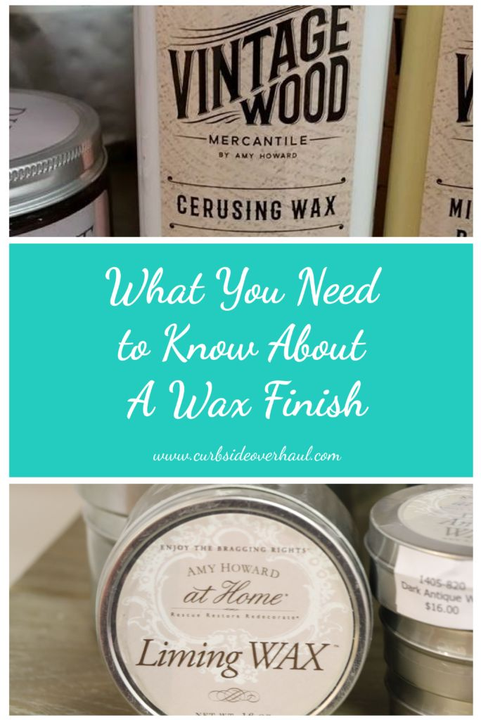 Why Use A Wax Finish? So you just finished painting your project, what next?  If you've used Amy Howard's Chalk Based Paint there is no need for any type of finish.  It is durable, won&…