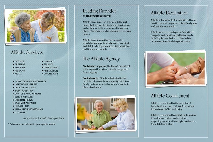 Affable Home Health Care Brochure Brochures Pinterest