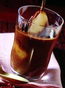Pere cotte al cioccolato