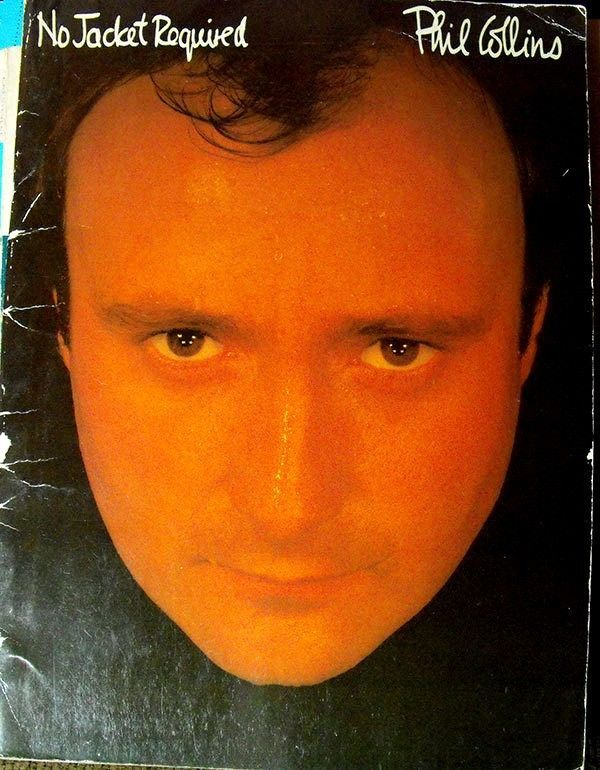 PHIL COLLINS - NO JACKET REQUIRED VTG MUSIC SONG BOOK PIANO VOCAL GUITAR #Warner