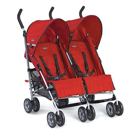 chicco citta Twin Stroller- Red # 67499.70