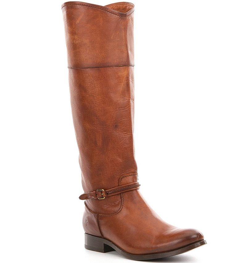 Cognac:Frye Melissa Seam Tall Riding Boots