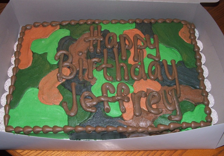 Camo Cake Cake Decorating Ideas Pinterest